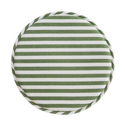 Round Chair Cushion Chair Pad Tatami Mat, Green Stripe