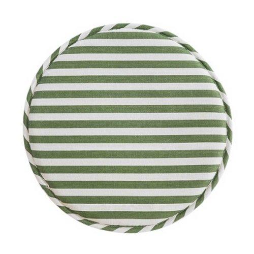 Round Chair Cushion Chair Pad Tatami Mat, Green Stripe