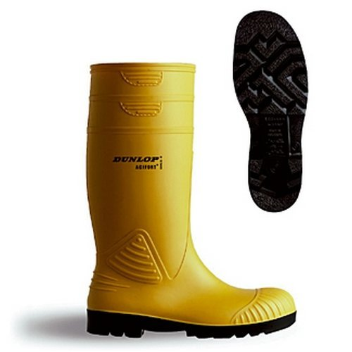 Dunlop A44223106 Acifort Heavy Duty Yellow Safety Wellingtons Size 6