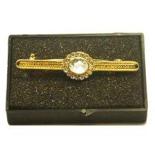 Karoo Gold Clear Moonstone Stock Pin