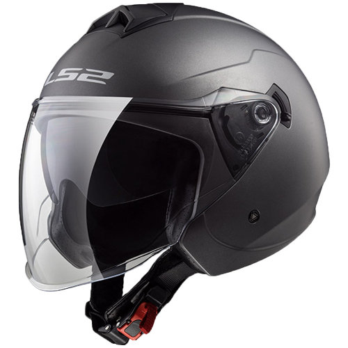 0ee479fa LS2 OF573 Twister Matt Titanium Open Face Dual Visor Jet Helmet on OnBuy