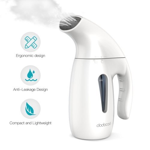 Clothes Steamer,dodocool Handheld Travel Garment Steamer Iron for Clothes,180ML Portable Fabric Hand Steamer Clothes Fast Heat Up Automatic...