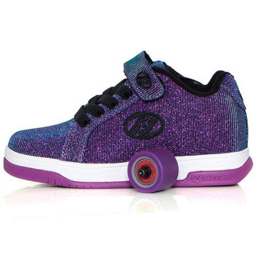 Heelys Split Roller Skate Trainers - Purple & Aqua