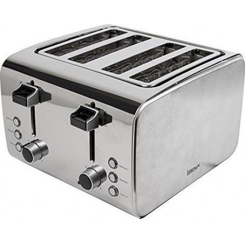 Igenix Ig3204 4 Slice Toaster - Brushed/polished Stainless Steel