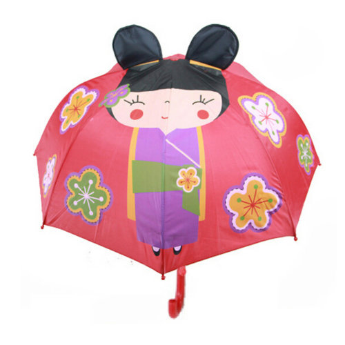Childrens  Rainy Day Umbrella /Bright colors/Kids Umbrella?Cherry blossoms  Girl