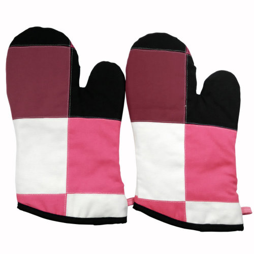 [Berry Cookie] Heat Resistant Patchwork Oven Gloves/Micro-oven Mitts 2-Pack