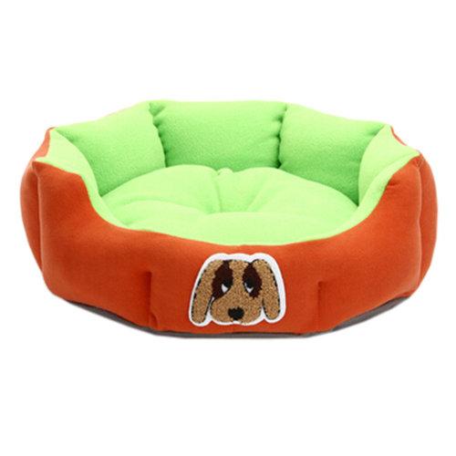 Detachable House Pet Mat Stylish Pet Bed Pet House Kennel Lovely Dog Orange