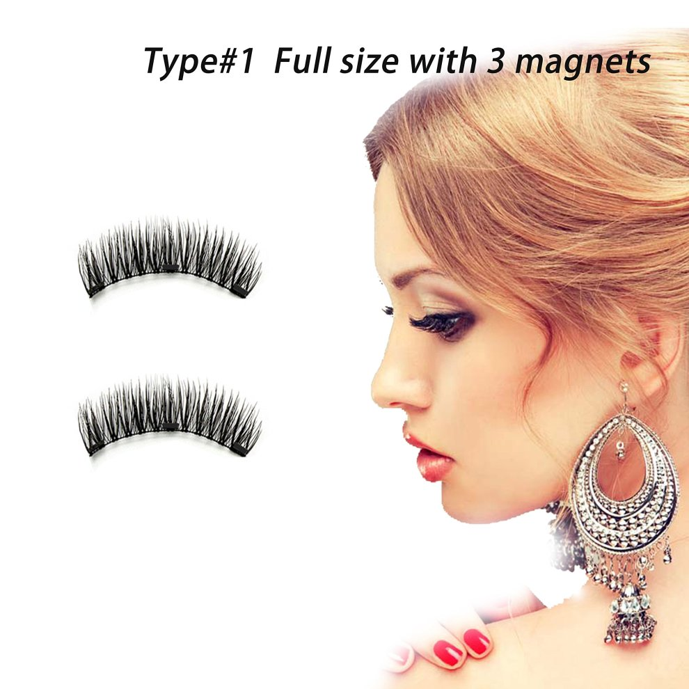 8c36a6e5963 ... Dkina Magnetic False Eyelashes, Reusable Fiber Magnetic Eyelashes,  Magnetic Lashes of Full Size ...