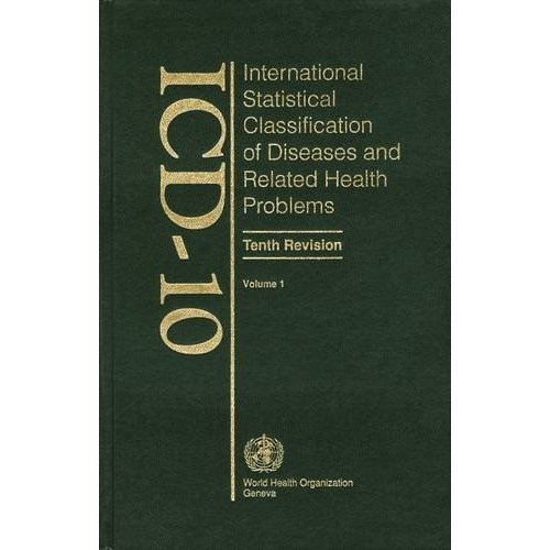 001: ICD-10 International Statistical Classification of Diseases and Related Health Problems: Tabular List v. 1
