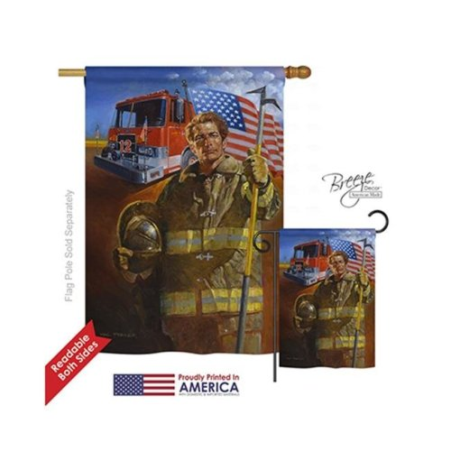 Breeze Decor 11076 Military Homeguard 2-Sided Vertical Impression House Flag - 28 x 40 in.