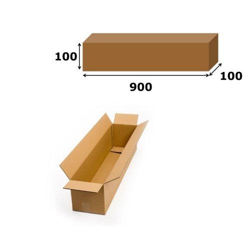 20x Postal Cardboard Box Long Mailing Shipping Carton 900x100x100mm Brown