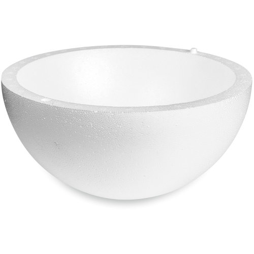 "Smooth Hollow Half Styrofoam Ball 8""-"