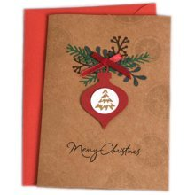Christmas Cards Greeting Cards Christmas Gift Beauitful Xmas Cards (4 Cards and Envelopes), Brown #2
