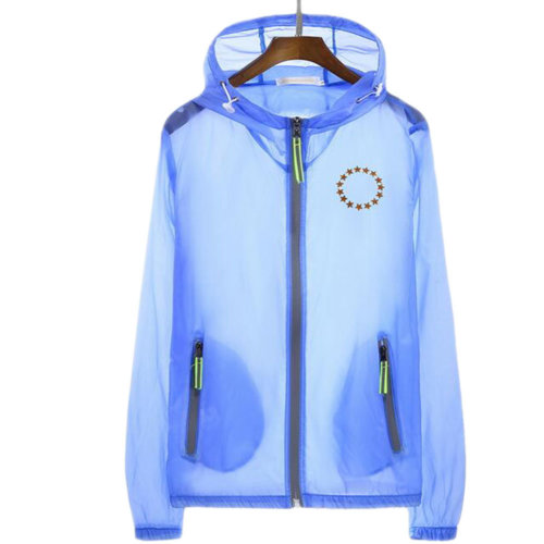 Waterproof Luminous Sun Protective Feather Clothing Cycling Climbing Long Sleeve Shirts-Light Blue