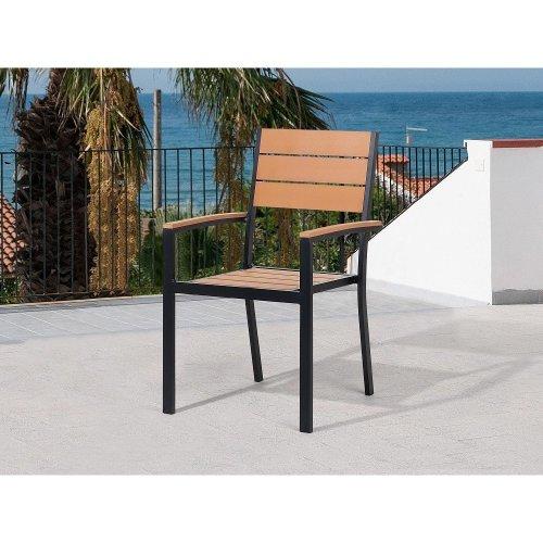 Garden Chair - Patio Chair - Outdoor Chair- Brown - PRATO
