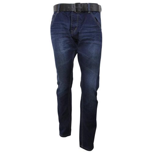 Ringspun Mens Flyford Straight Leg Dark Wash Jeans