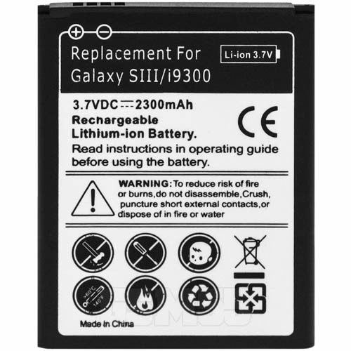 Battery for Samsung Galaxy S3 EB-L1G6LLUC 2300 mAh Replacement Battery