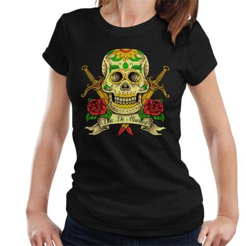 Day Of The Dead Skull Women's T-Shirt