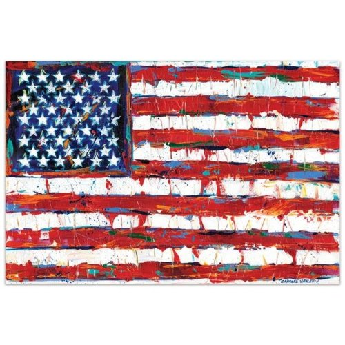 Empire Art Direct TMP-126740-3248 32 x 48 in. American Flag Frameless Tempered Glass Panel Contemporary Wall Art