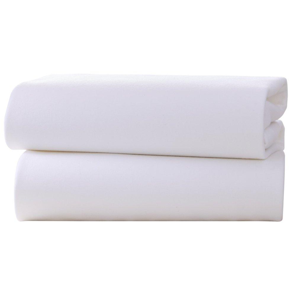 DK Pram//Crib Flannelette Sheet White