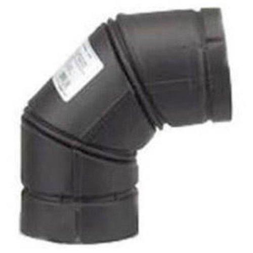 Selkirk 0506931 90 deg Type-L Vent Stove Pipe Elbow, Black