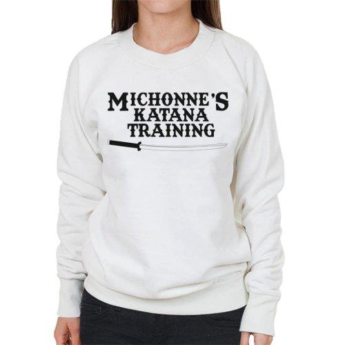 Michonnes Katana Training Walking Dead Women's Sweatshirt