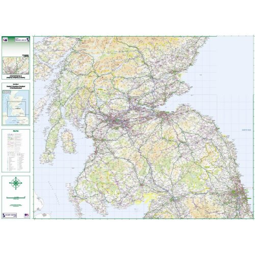 Road Map 3 Southern Scotland & Northumberland