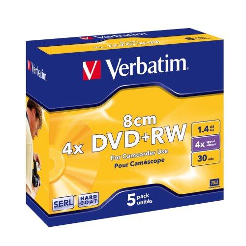 Verbatim DVD+RW 8cm Matt Silver 1.4GB DVD+RW 5pc(s)