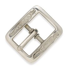 "Asb Center Bar Buckle - Al Stohlman Brand Center Bar Bkl 1 2"" Belt Customise Design Tandy 35210-00"