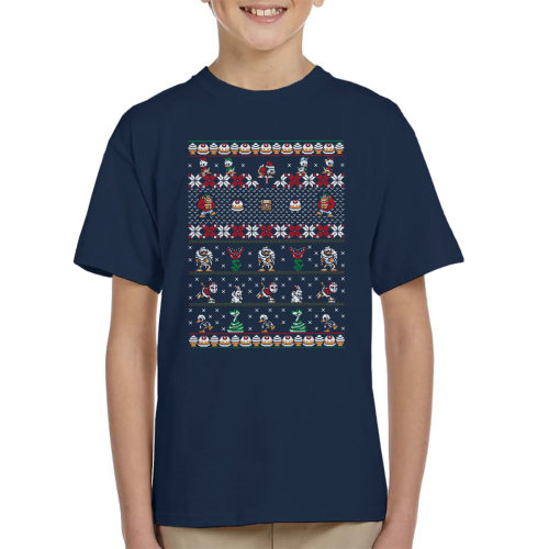 Merry Christmas Uncle Scrooge Duck Tales Kid's T-Shirt