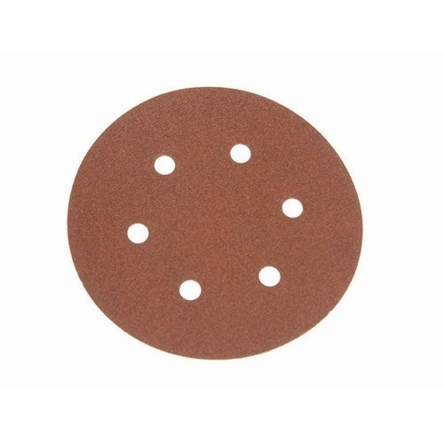 Faithfull FAIAD15080H Hook & Loop Sanding Disc DID2 Holed 150mm x 80g (Pack of 25)