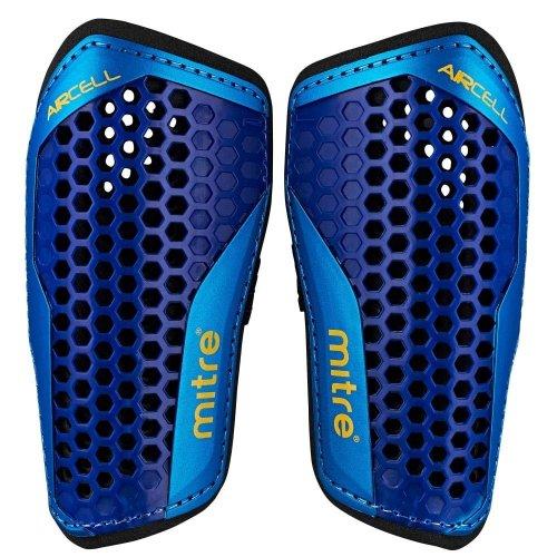 Mitre Aircell Speed Slip-In Football Shinguard Shinpad Purple/Blue