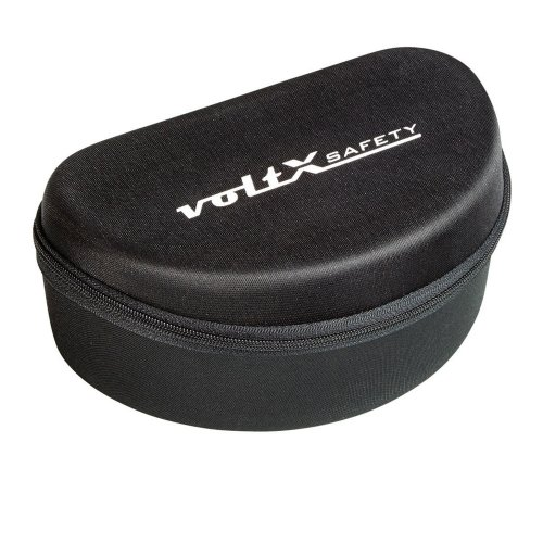 voltX Large Safety Glasses Case - Flock lined interior with cargo net storage
