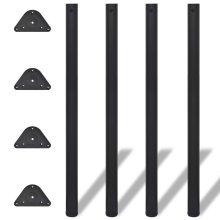 4 Height Adjustable Table Legs Black 1100 mm