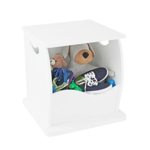 CHILDREN'S Storage Cube White Single Stacking Shelving Shelf Toys