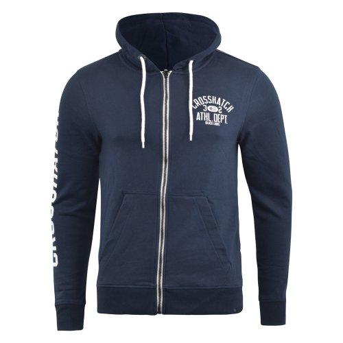 Mens hoodie crosshatch full zip cashup