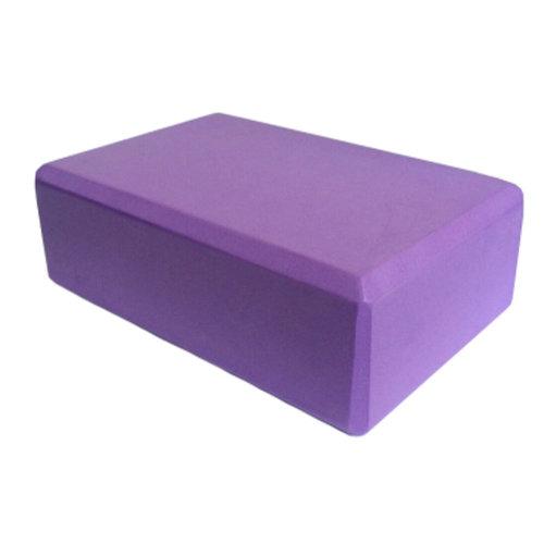Set of 2 High-Density Yoga Block Foam Blocks Brick Yoga Mat Accessory, Purple