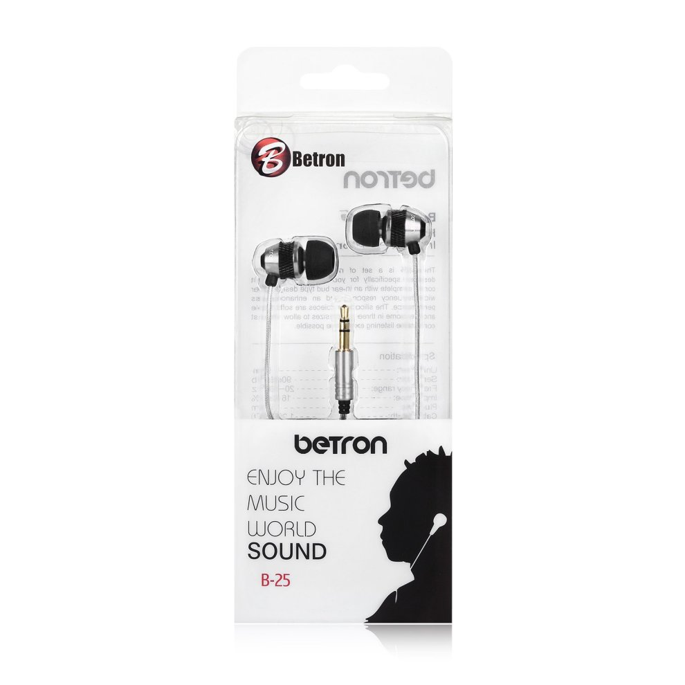 Betron B-25 Noise Isolating in Ear Canal Headphones Earphones with Pure  Sound and Powerful Bass for iPhone, iPad, iPod, Samsung, Nokia, HTC , Mp3