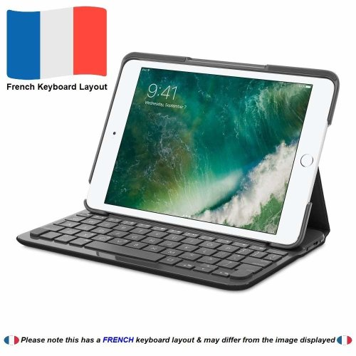 Logitech Canvas Keyboard Case for iPad mini 1, 2 & 3 - Carbon Black (French Keyboard Layout)
