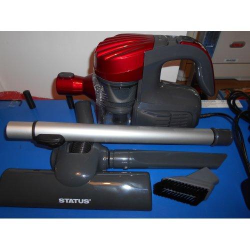 Status GLENDALE1PKB 600w Lightweight Cyclone Vacuum Cleaner, Red, Grey
