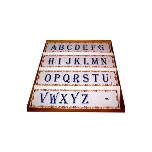 Tiles with Letters Numbers Spaces End Corners Vintage Ceramic Tiles