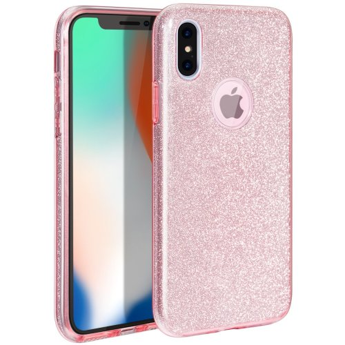 official photos 0196c 3f23f iPhone X Case, MILPROX iPhone X Glitter, Shiny Sparkly Silm Bling Crystal  Clear , 3 Layer Hybrid, Anti-Slick/ Protective/ Soft Case for iPhone...
