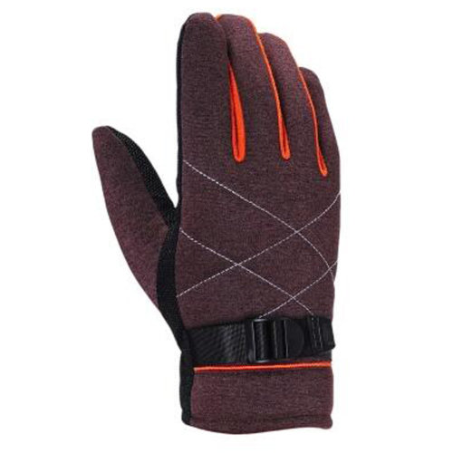 1 Pair Men's Touchscreen Winter Gloves Warm Thicken Full Finger Gloves, NO.26