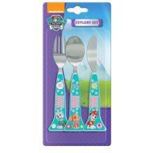 Paw Patrol Girls 3pc Cutlery Set - 3 Fork Spoon Shaped Kids Knife Piece New -  cutlery paw patrol set girls 3 fork spoon shaped kids knife piece new