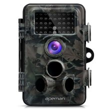 APEMAN Trail Camera 12MP 1080P HD Wildlife Camera with 130° Wide Angle Lens