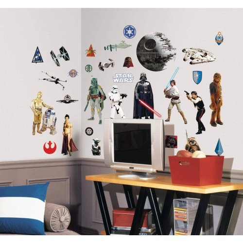 RoomMates Star Wars Wall Stickers Vinyl Multi Colour Childrens Room Nursery Accessories 20180912