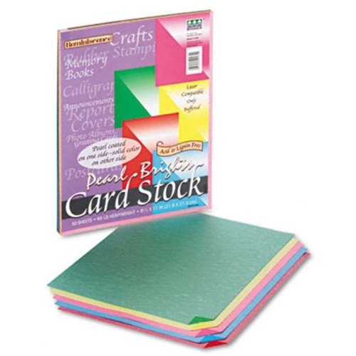 Pacon 109131 Reminiscence Card Stock- 65lb- Assorted Parchment Colors- Letter- 50 Sheets/Pack