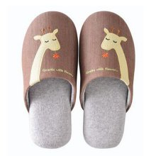Family Winter Warm & Cozy  Indoor Shoes Couples Cartoon House Slipper, C