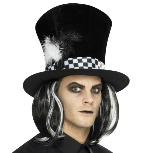 Dark Tea Party Mad Hatter Hat with Hair