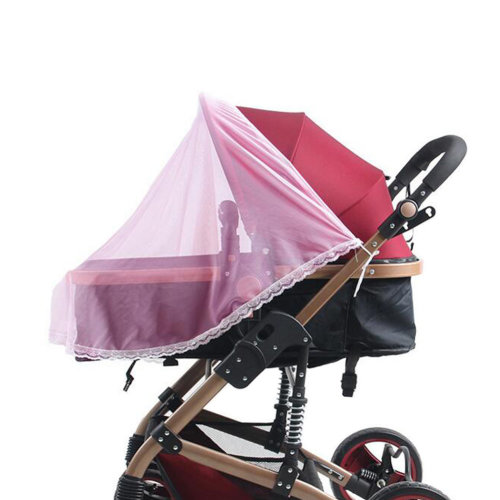 Mosquito Nets for Baby Strollers & Cribs Soft Insect Netting Cover- Pink